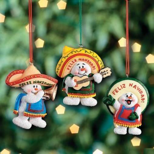 a3c67b60c998a Christmas Decoration 3 Feliz Navidad Snowman Ornaments Mexican Holiday Decor  T