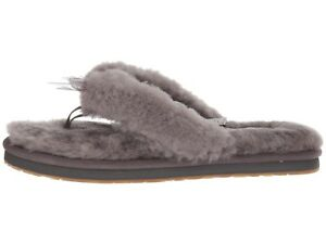 702d9c79fbf NEW UGG Brand Womens Fluff Flip Flop /w Bow Ribbon Slippers Shoes ...