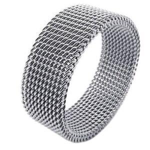Bijoux-Bague-en-acier-inoxydable-Bague-en-mailles-flexible-en-acier-inoxyda-I3W3