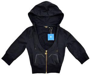 Details zu Adidas Missy Elliott Damen Strass Sweatjacke Bolero Kapuzen Jacke Hoodie schwarz