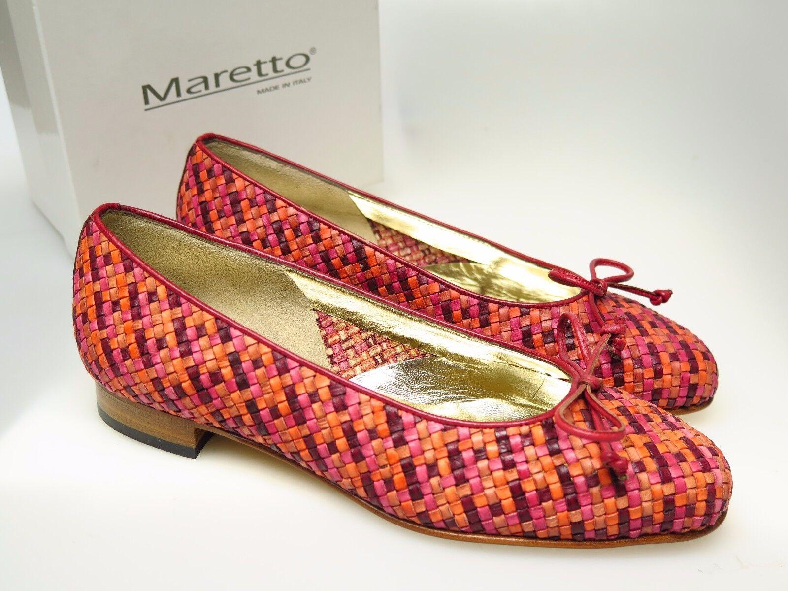 MARETTO MARETTO MARETTO  Designer Damenschuhe 6231 Ameta Rosso Leder Schuhe Gr. 36,5 NEU 77a453