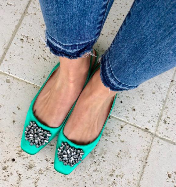 PVP    Zara Joya Adornado Slingback zapatos planos Reino Unido 2_UK 3_UK 4 REF.5302 201  ordenar ahora