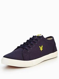Lyle & Scott Teviot Twill Plimsolls White UK 8 EU 42 LN25 25