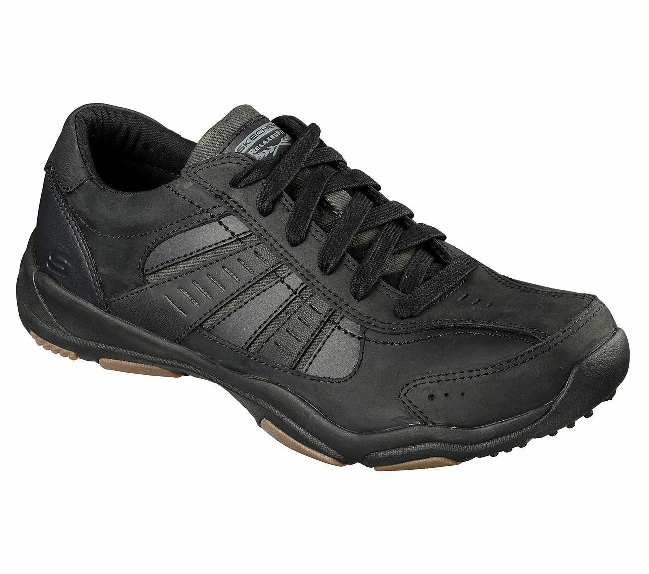 64833/BLK, SKECHERS, USA Uomo Relaxed Fit®: Larson-Nerick shoe Air Cooled Memory