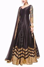 Bollywood Indian Ethnic Women Dress Pakistani Designer Salwar Kameez Black Suit