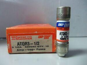3 Amp, 600 Volt Lot of 2 Gould ATQR 3 Fuses FNQ-R-3