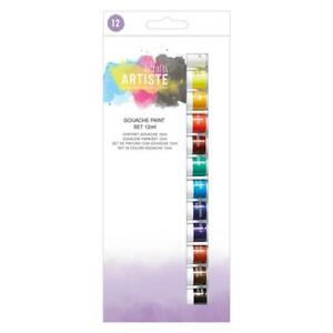 DOCRAFTS-ARTISTE-GOUACHE-PAINT-SET-12-x-12ml-TUBES-ART-PAINTS