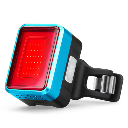 Auto Speed Sensor Bicycle Brake Induction Taillight Warning Signal Rear Light