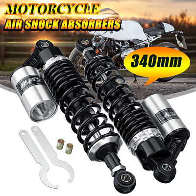 340mm Universal Motorcycle Air Rear Shock Absorber Suspension Damper for Honda
