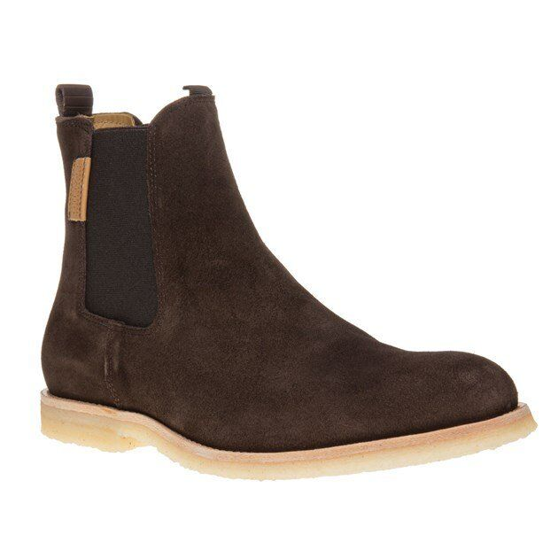 New Mens Sole Crafted braun Baynes Suede Stiefel Chelsea Elasticated Pull On