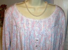 NWT XL Eileen Pink Paisley West Nightgown NEW Dreamtime Jersey 100% Cotton