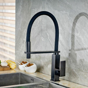 Pull Down & Swivel Spout Mixer Kitchen Vanity Sink Taps Single Handle Faucet