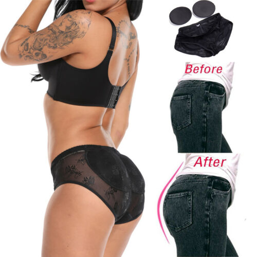 Women/'s Butt Lifter Padded Lace Panty Bum Enhancing Seamless Booty Shaper Brief