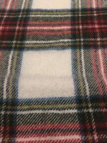 Stewart Dress Lambswool Check Scarf Made In Locharron Of Scotland /& Warm