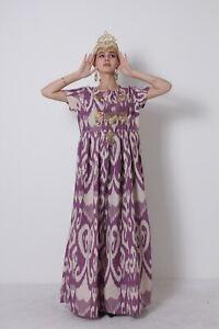 Beautiful-Uzbek-Silk-Adras-National-Original-Traditional-Dress-SALE-WAS-155-00