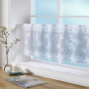 BUTTERFLIES-SPOTS-FLORAL-LACE-59-X-24-034-150-X-61CM-KITCHEN-CAFE-CURTAIN-PANEL