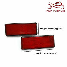 BICYCLE BIKE SAFETY REFLECTOR MUDGUARD RECTANGLE RED REFLECTOR 88mm - 2 PIECE