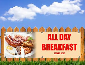 OUTDOOR PVC FISH AND CHIPS  BANNER SHOP SIGN  FREE ART WORK READY TO DISPLAY