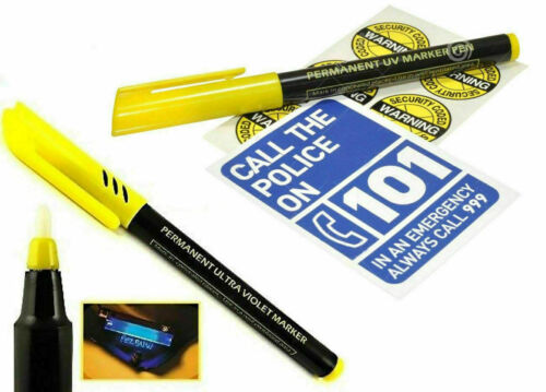 Permanent Ultra Violet Security Property Marker Markers Pen Invisible UV Ink.