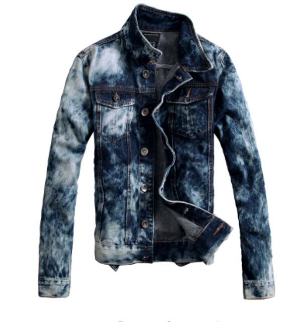Men's new Korean Slim Fit hole thin denim jacket retro short jean coat