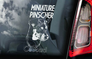 Miniatura-Pinscher-On-Board-Auto-Finestrino-Adesivo-Tedesco-Cane-Cartello
