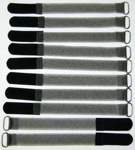 10 velcro-serre-câbles FK 16cm x 16mm noir velcro bandes câble velcro NEUF