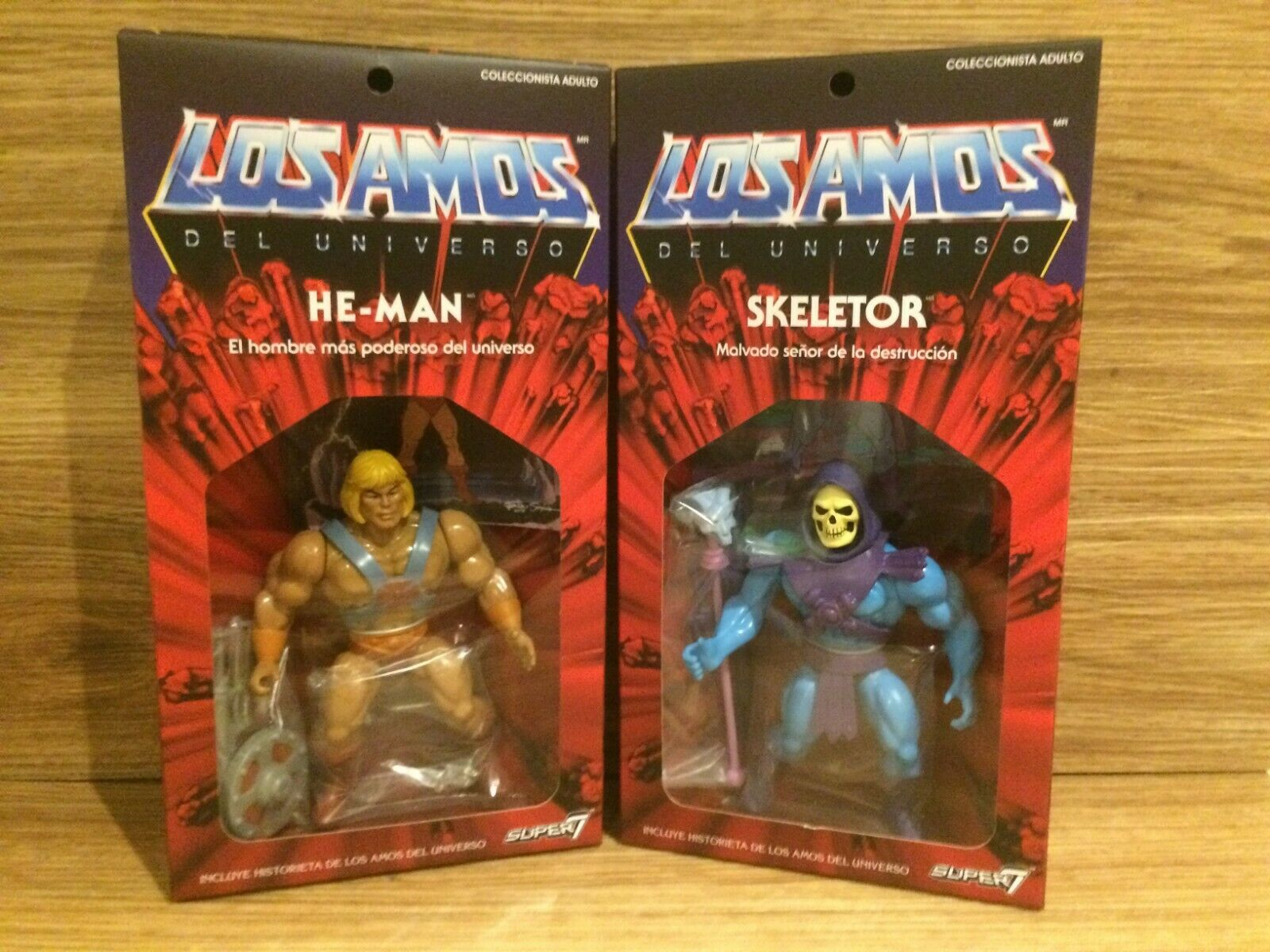 Los Amos Masters of the Universe He-Man & Skeletor Vintage Style 5.5  Bundle