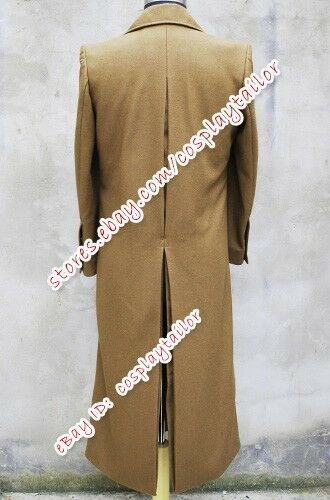 Doctor Purchase Who Halloween Dr Brown Wool Trench Coat Jacket Cosplay Costume