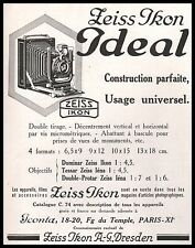Publicité ZEISS IKON  IDEAL appareil photo vintage print ad  1929