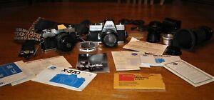 HUGE-Minolta-Camera-Lot-2-cameras-x-370-amp-srTmc-5-lenses-Tons-of-other-stuff