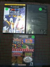 3 Gamecube games Sonic Heroes Namco Museum Sonic Adventure DX GC CHILDREN KID
