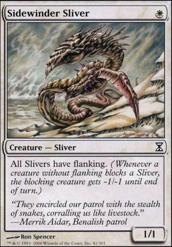 Magic the Gathering MTG 1x Sidewinder Sliver x1 LP//LP x 1 Time Spiral