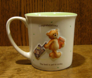 Gund-Mug-60483-CONGRATULATIONS-034-THE-BEST-IS-YET-TO-COME-034-4-034-microwave-safe
