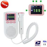 Lcd Vascular Fetal Doppler 3mhz Probe Fhr Baby Heart Monitor Baby Sound Sale