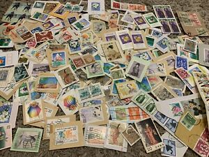 JAPAN STAMPS ACCUMULATION ON PAPER COLLECTION