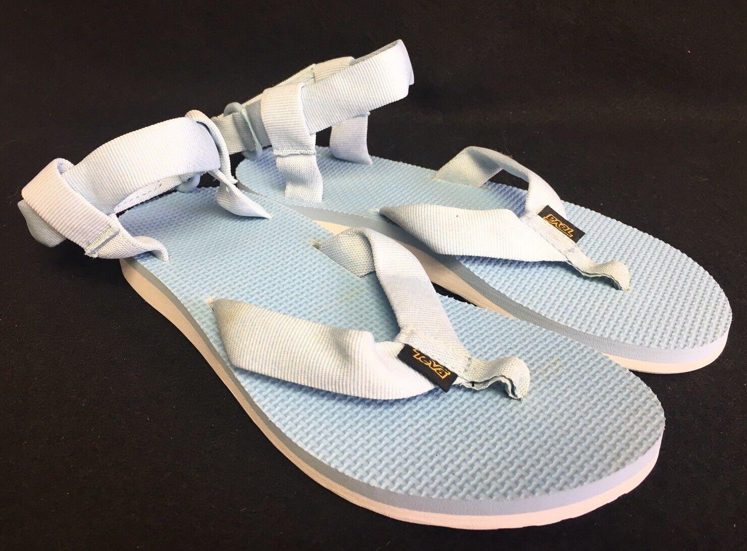 TEVA Flops ORIGINAL Womens SPORT SANDALS Thongs Flip Flops TEVA Strappy 1003986 Marled Blue e1ef14