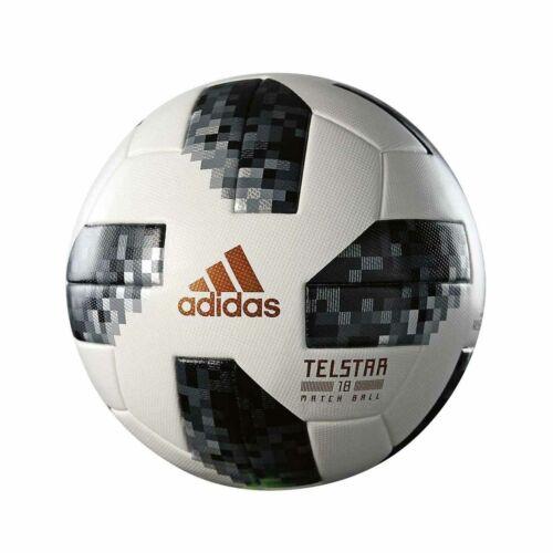 Telstar Replica Soccer Match Ball Hand stitched FIFA Football Black