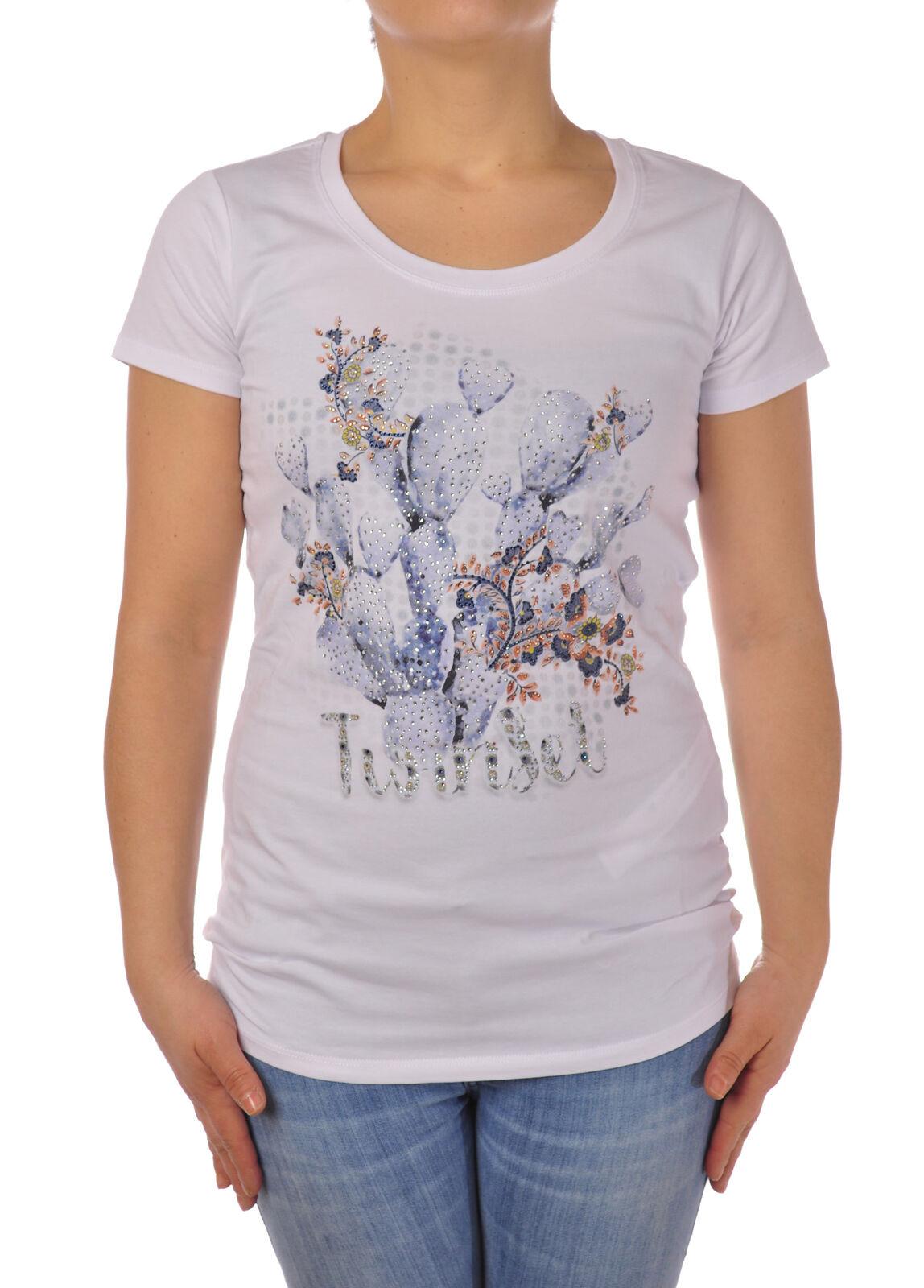 Twin Set - Topwear-T-shirts - Frau - Weiß - 5079202F184428