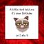 Al-Grumpy-Cat-cartolina-di-Compleanno-per-chi-ama-i-gatti-Divertente-divertente-fun-PUFFO-BRONTOLONE miniatura 3