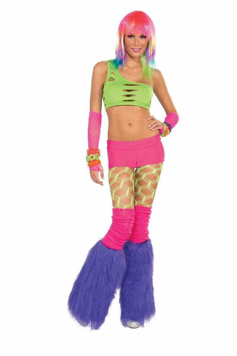 Club Candy Solid Neon Costume Booty Shorts Adult: Pink One Size