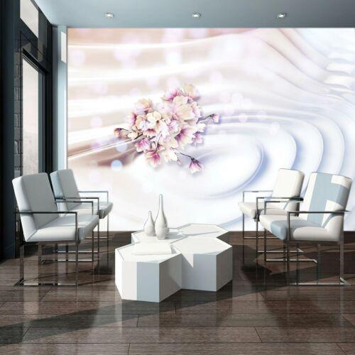 Papier peint papier peint la fresque f15875 fleurs et ondes fleurs nature abstraction 3d