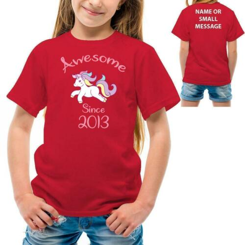 Awesome Unicorn 2013 Girl birthday Party T-shirt Tee top