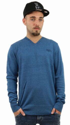 SUPERDRY ORANGE étiquette Vee uyu bleu m61lk038f1 plusieurs tailles NOUVEAU