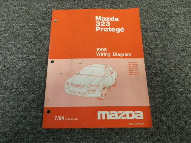 1995 Mazda Protege 323 Original Electrical Wiring Diagram