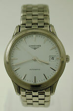 Longines Heritage Flagship Automatic Date Watch L4.774.4.12.6 Stainless L4.774.4