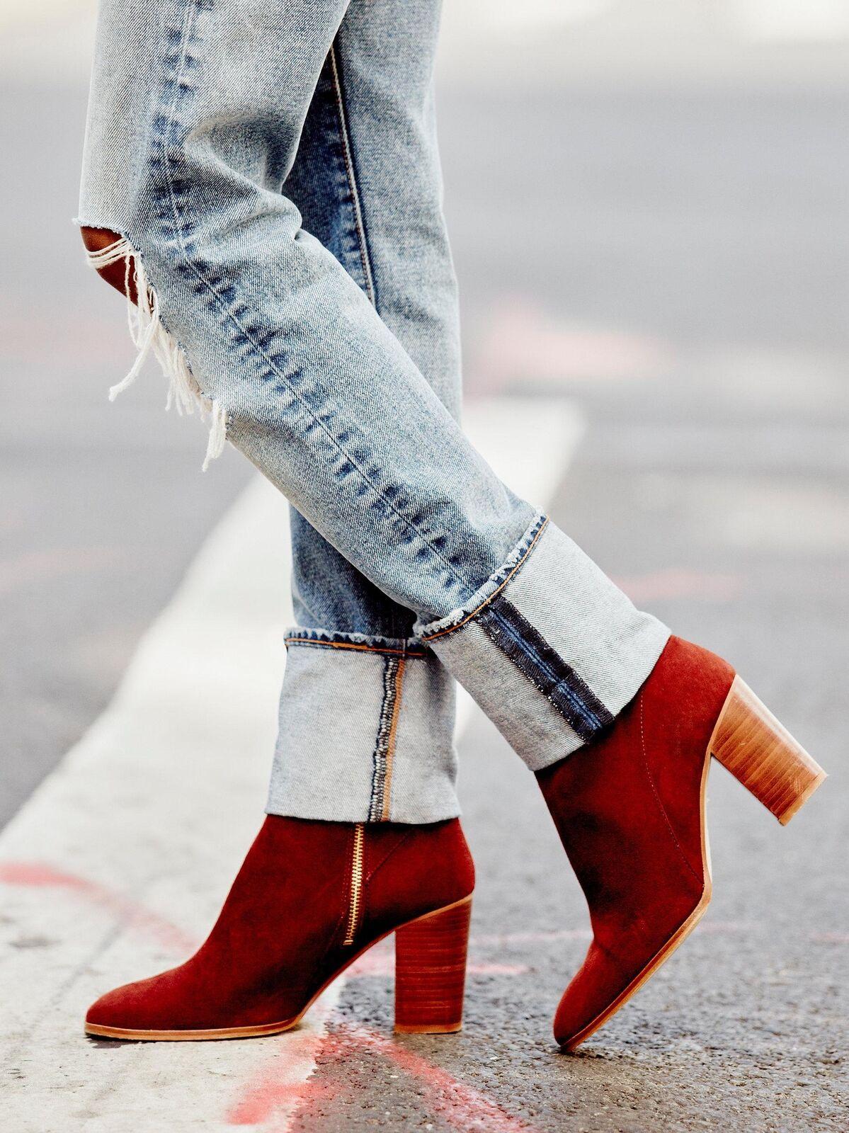 Free People Breakers Heel boot size 7 NEW suede MSRP   178