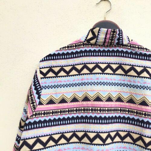 pastel ethnic woven vintage jacket crazy 90s aztec kimono hill tribe multicolour