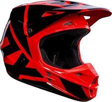 2017 FOX Racing V1 Race Motocross Helmet Red Black Men's Size MEDIUM