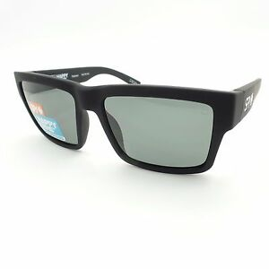 cbb98de188 Spy Optics Montana Soft Matte Black Happy Gray Green Polarized New ...