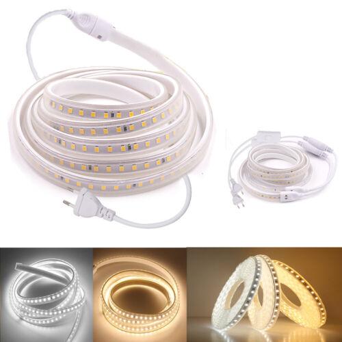 230V LED Streifen SMD2835 Lichtleiste Lichtband Schlauch Stripe Innen Außen
